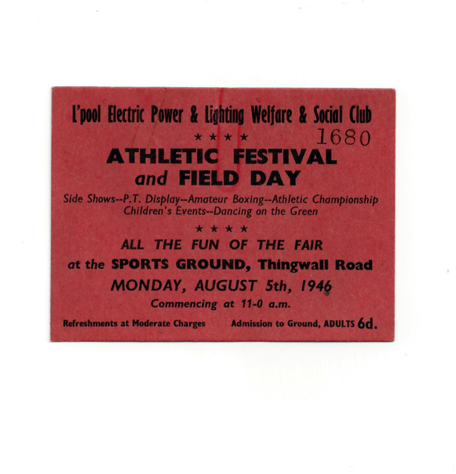 AthleticFestival and Field Day 1946